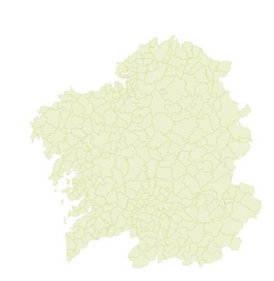Mapa de avisos de MeteoGalicia para o mércores.