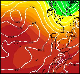 Presión Atmosférica (00UTC)-(12UTC)